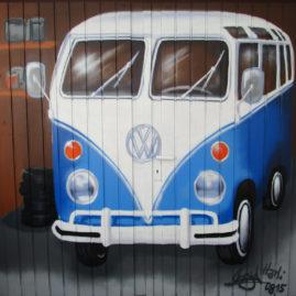 Garage mit VW-Bus