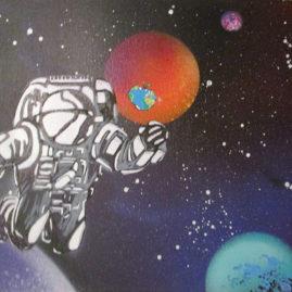 """Leinwand """"Astronaut"""""""