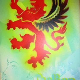 """Leinwand """"Gießen Löwe mit Gesicht"""""""