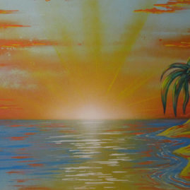 "Leinwand ""Sonnenuntergang"""