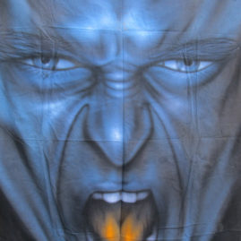 "Tuch ""blaues Gesicht"""